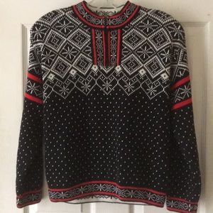 Hanna Andersson Fair Isle Nordic 1/4 zip pull over